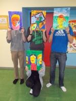 Kunstgalerie - Expressive Selbstbildnisse - Klassen 7ac - Schuljahr 2014/2015